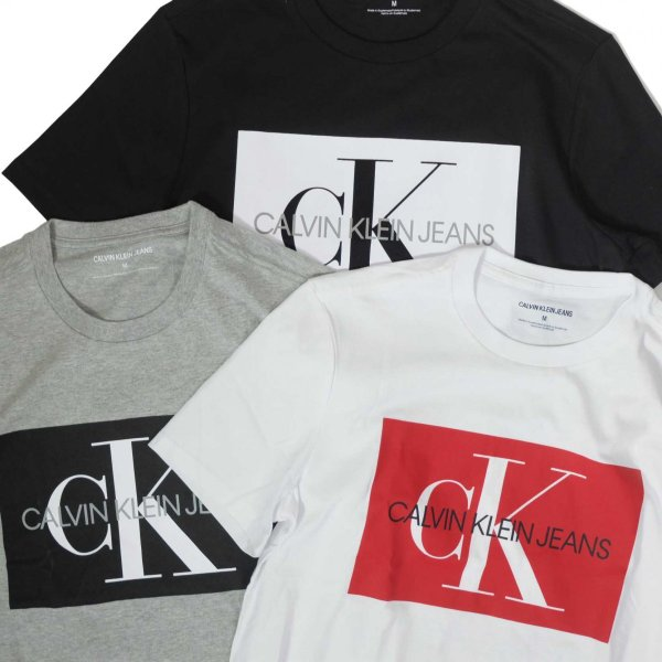 カルバン クライン ジーンズ モノグラム ロゴ ブロック Tシャツ 全3色 メンズ|rawdrip