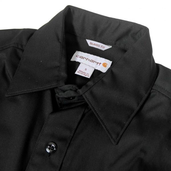 カーハート ショートスリーブ ツイル ワーク シャツ ブラック メンズ|rawdrip|02