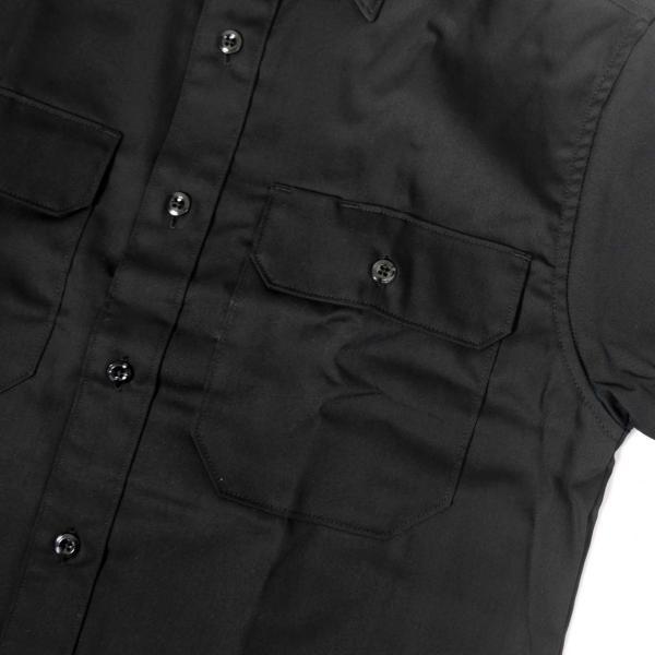 カーハート ショートスリーブ ツイル ワーク シャツ ブラック メンズ|rawdrip|03