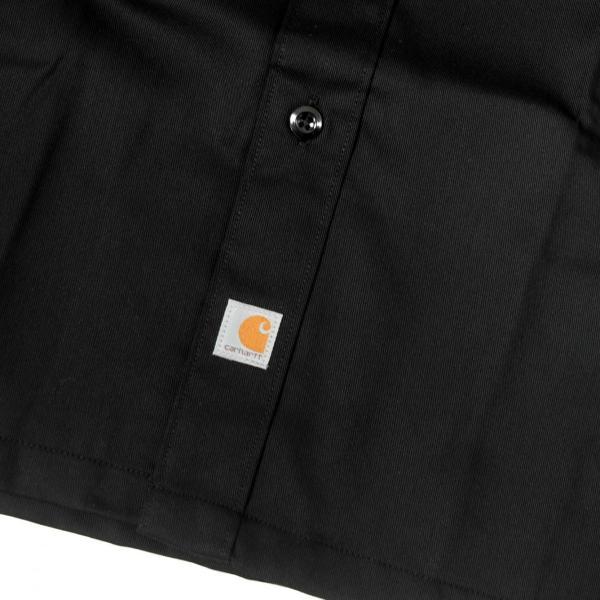 カーハート ショートスリーブ ツイル ワーク シャツ ブラック メンズ|rawdrip|04