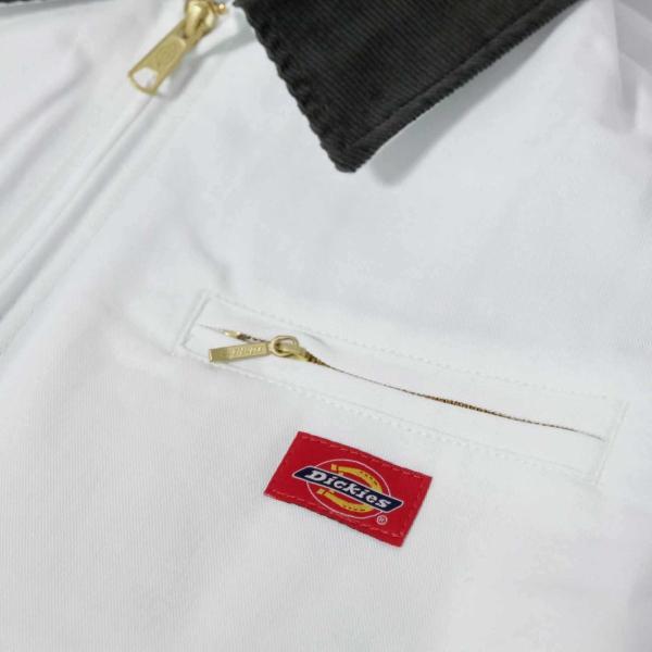 ディッキーズ ペインターズ フランネル ライニング ジャケット ホワイト/メンズ/ワークウェア|rawdrip|04