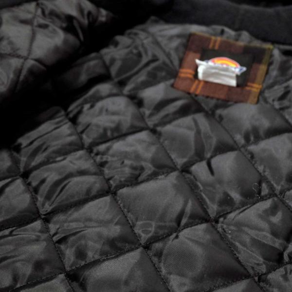 ディッキーズ リラックスフィット アイコン フード キルティング シャツ ジャケット チョコレート/タクティカルグリーン プレイド メンズ|rawdrip|05