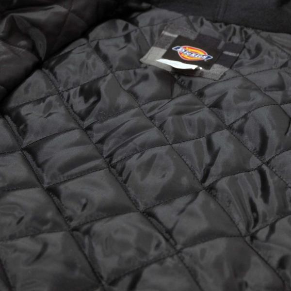 ディッキーズ リラックスフィット アイコン フード キルティング シャツ ジャケット スレート グラファイト プレイド メンズ rawdrip 05