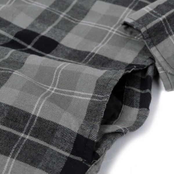 ディッキーズ リラックスフィット アイコン フード キルティング シャツ ジャケット スレート グラファイト プレイド メンズ rawdrip 06