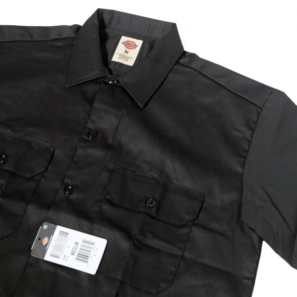 ディッキーズ ショートスリーブ ワーク シャツ ブラック|rawdrip|02