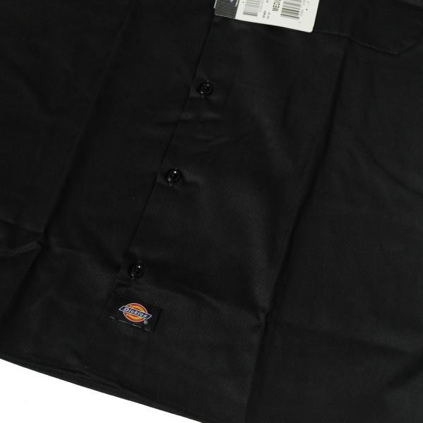 ディッキーズ ショートスリーブ ワーク シャツ ブラック|rawdrip|03
