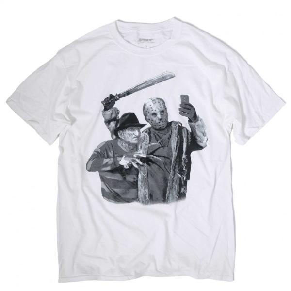 ジェイソン フレディ セルフィー Tシャツ ホワイトメンズ|rawdrip