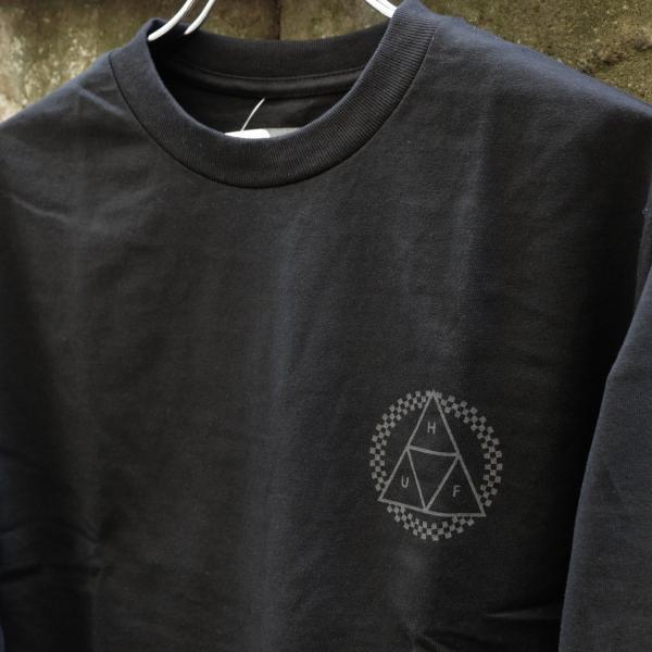 ハフ ブラックアウト トリプルトライアングル ロングスリーブ Tシャツ ブラック|rawdrip|03