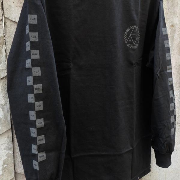 ハフ ブラックアウト トリプルトライアングル ロングスリーブ Tシャツ ブラック|rawdrip|04