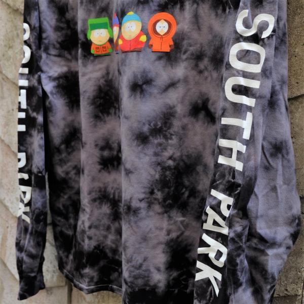 ハフ × サウス パーク クリスタル ウォッシュ ロングスリーブ Tシャツ ブラック|rawdrip|03