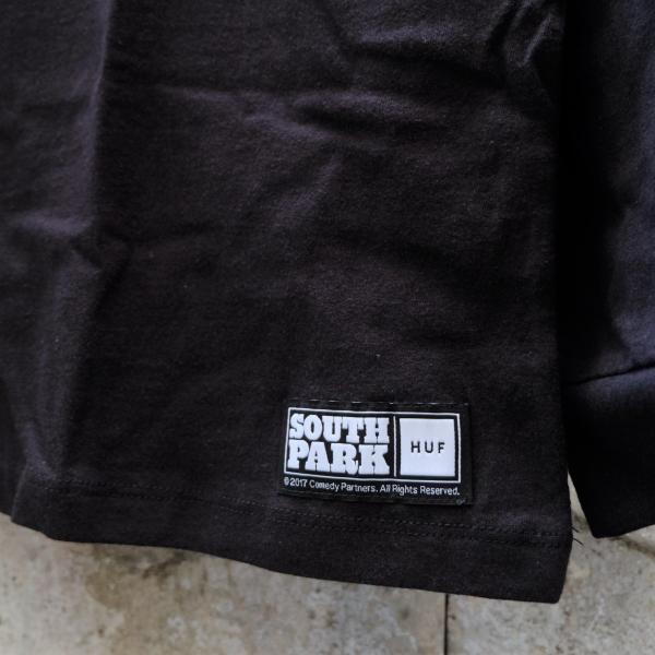 ハフ × サウス パーク ミスター ハンキー ロングスリーブ ポケット Tシャツ ブラック|rawdrip|04