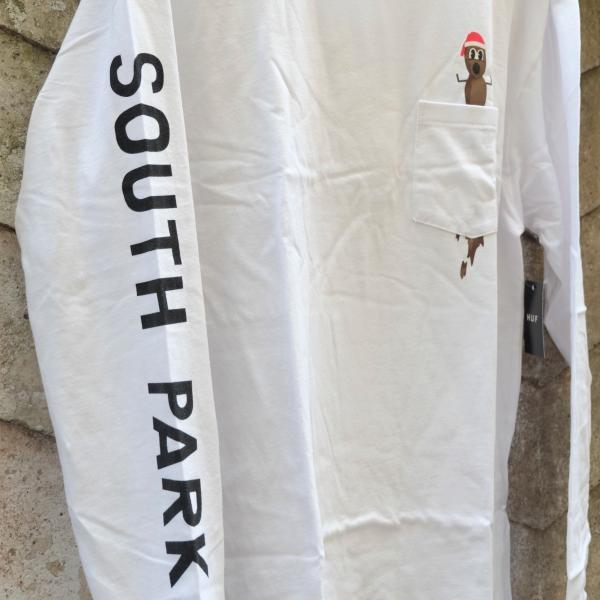 ハフ × サウス パーク ミスター ハンキー ロングスリーブ ポケット Tシャツ ホワイト|rawdrip|03