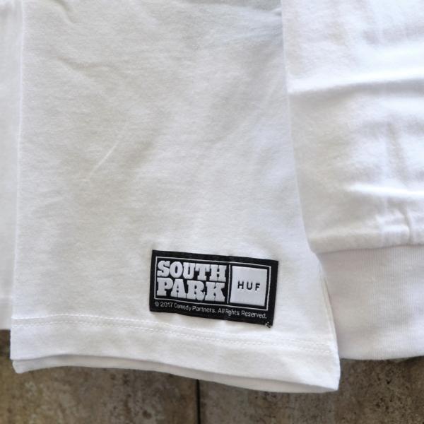 ハフ × サウス パーク ミスター ハンキー ロングスリーブ ポケット Tシャツ ホワイト|rawdrip|04