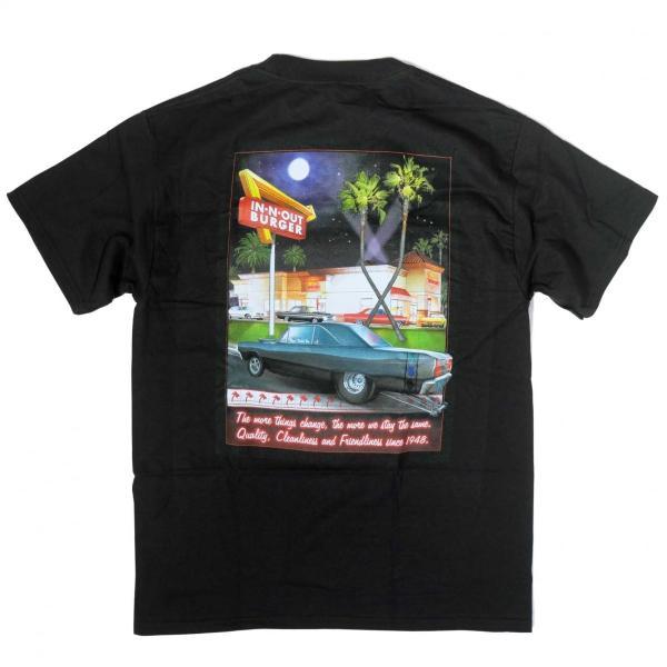 インアウトバーガー #129 2011 ステイン ザ セイム Tシャツ ブラック|rawdrip