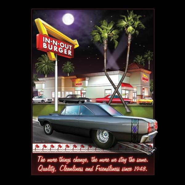 インアウトバーガー #129 2011 ステイン ザ セイム Tシャツ ブラック|rawdrip|04