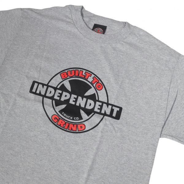 インディペンデント 95 BTG リング レギュラー Tシャツ グレー|rawdrip|02