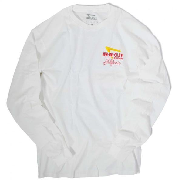 インアウトバーガー #90 アット ザ ビーチ ロングスリーブ Tシャツ ホワイト rawdrip 02