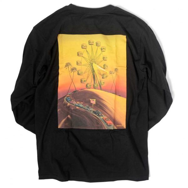 インアウトバーガー #93 70TH アニバーサリー ロングスリーブ Tシャツ ブラック rawdrip
