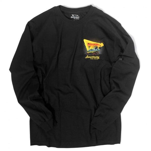 インアウトバーガー #93 70TH アニバーサリー ロングスリーブ Tシャツ ブラック rawdrip 02