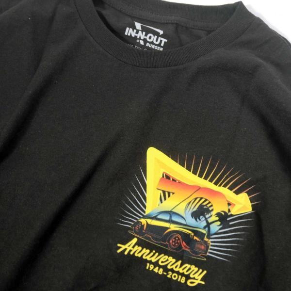 インアウトバーガー #93 70TH アニバーサリー ロングスリーブ Tシャツ ブラック rawdrip 03