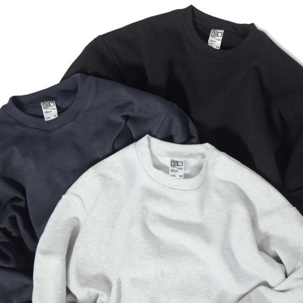 ロサンゼルス アパレル 14oz ヘビー フリース プルオーバー クルーネック スウェットシャツ 全2色 メンズ|rawdrip