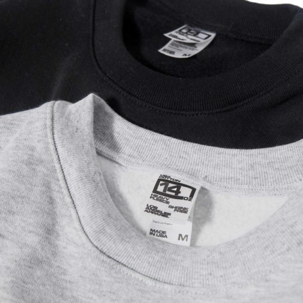 ロサンゼルス アパレル 14oz ヘビー フリース プルオーバー クルーネック スウェットシャツ 全2色 メンズ|rawdrip|05