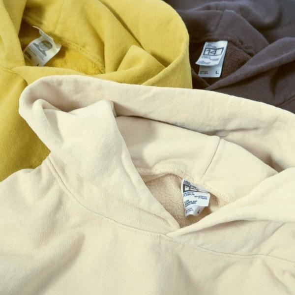 ロサンゼルス アパレル ガーメント ダイ 14oz ヘビー フリース フード プルオーバー スウェットシャツ 全3色 メンズ|rawdrip|05