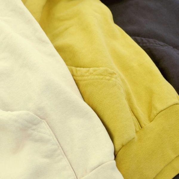 ロサンゼルス アパレル ガーメント ダイ 14oz ヘビー フリース フード プルオーバー スウェットシャツ 全3色 メンズ|rawdrip|06