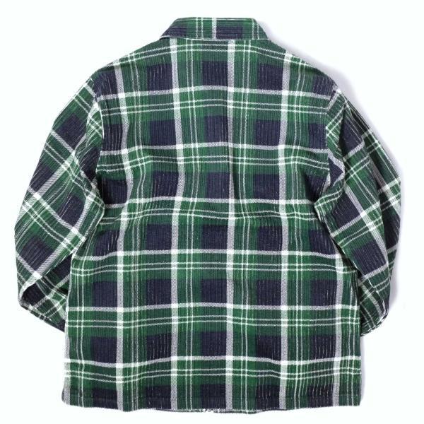 ステューシー ビッグ ウェイル コード ジップ アップ L/S シャツ グリーンプレイド メンズ/長袖シャツ|rawdrip|06