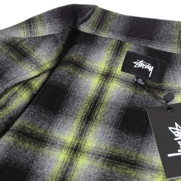 ステューシー ガン プレイド ジップアップ ブラック メンズ/長袖シャツ|rawdrip|03