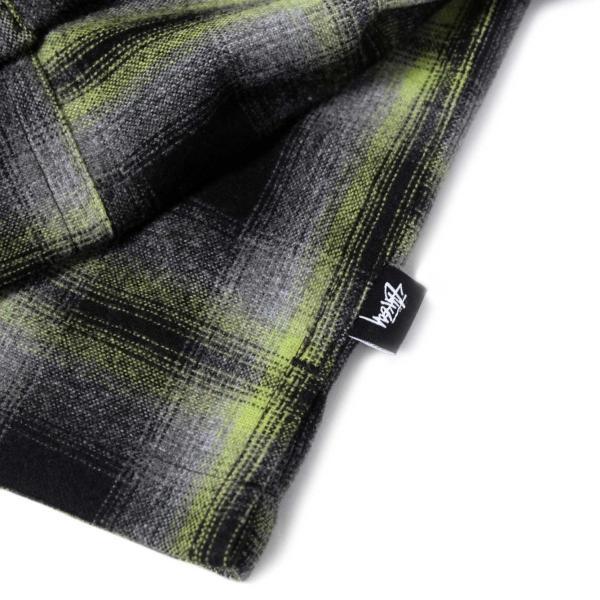 ステューシー ガン プレイド ジップアップ ブラック メンズ/長袖シャツ|rawdrip|05