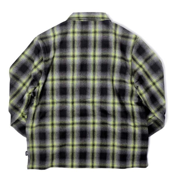 ステューシー ガン プレイド ジップアップ ブラック メンズ/長袖シャツ|rawdrip|06