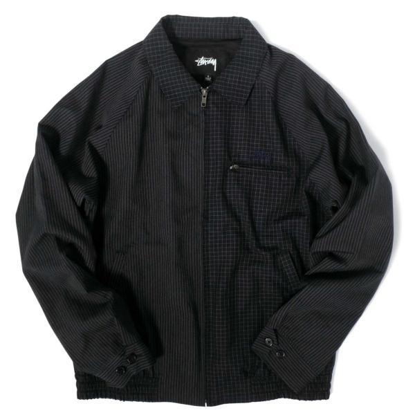 ステューシー ミックス アップ ブライアン ジャケット ネイビー メンズ/ジャケット/ブルゾン|rawdrip
