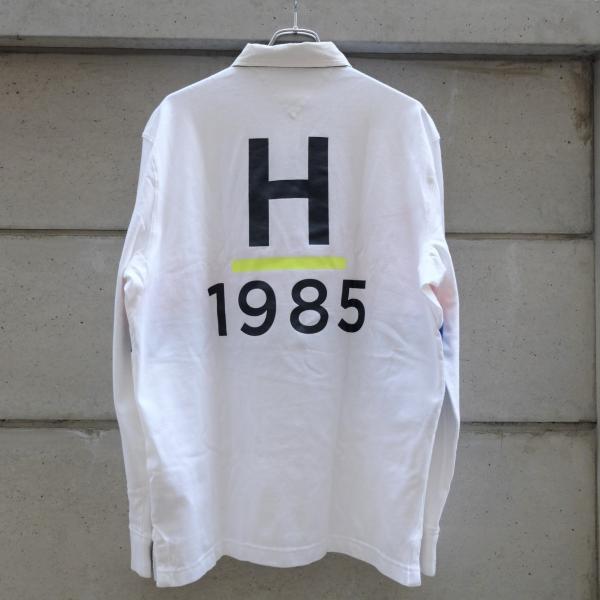 トミー ヒルフィガー ラグビー シャツ ホワイト ブルー レッド|rawdrip|04