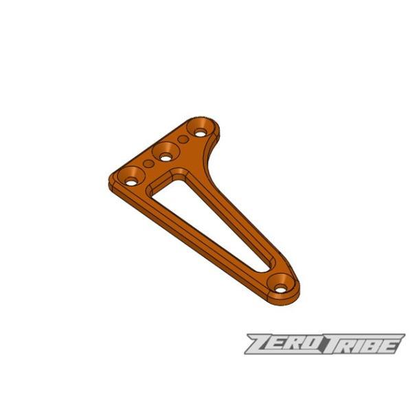 【ネコポス可】ZEROTRIBE ZT1010 アルミフローティングサーボホルダー オレンジ(XRAY T4 '17&'18用) razikonwebshop