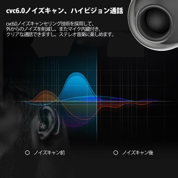 ワイヤレスイヤホン ブルートゥースイヤホン 父の日 プレゼント 32時間連続再生 180°回転 左右耳兼用 片耳 耳掛け型|rc-genki-shop|07