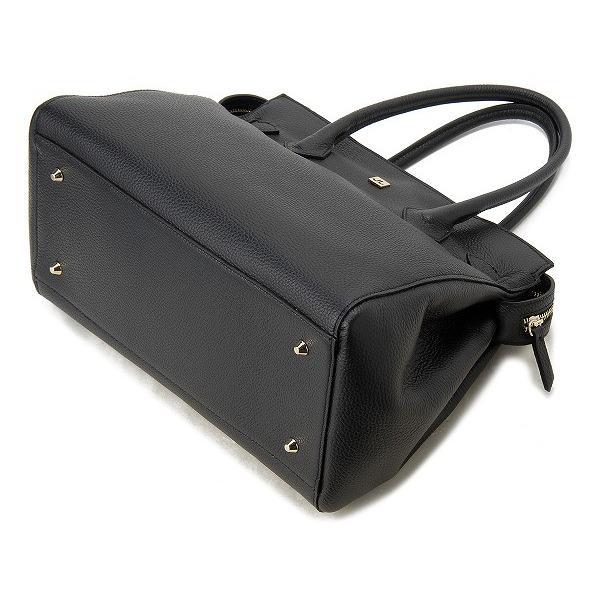 ジェンリゴ ハンドバッグ 65001SALC NERORC JENRIGO レザー トートバッグ ブラック 新品