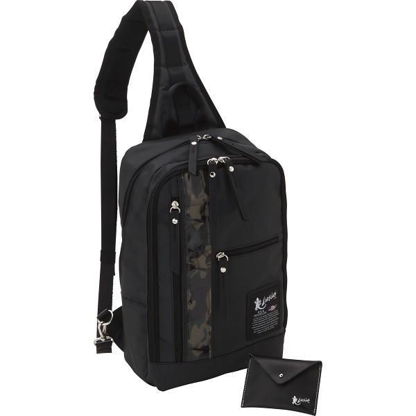 ラーキンス ボディバッグ カードケースセット カモフラ LKTI カバン バッグカジュアル 代引不可