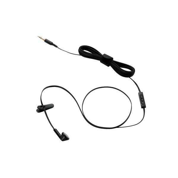 (まとめ)エレコム テレビ用インナーイヤータイプヘッドホン(片耳) EHP-TVIEM0230BK〔×3セット〕