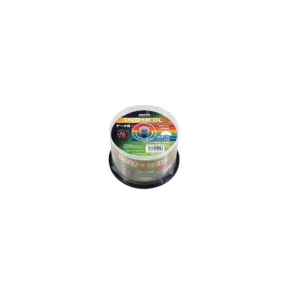 HIDISC DVD+R DLデ-タ用メディア レーベル ワイドタイプ プリンタブル白50枚スピンドル HDD+R85HP50