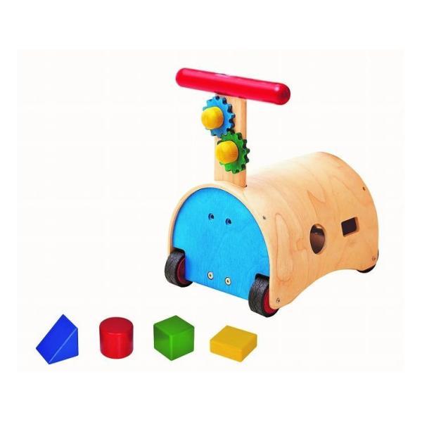 エドインター 森のあそび道具シリーズ 木製おもちゃ のっておして スクスクウォーカー