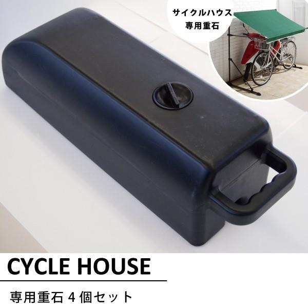 サイクルハウス専用重し4個セット自転車ガレージバイクガレージ重石重りおもし風対策吹き飛び防止簡単設置代引不可
