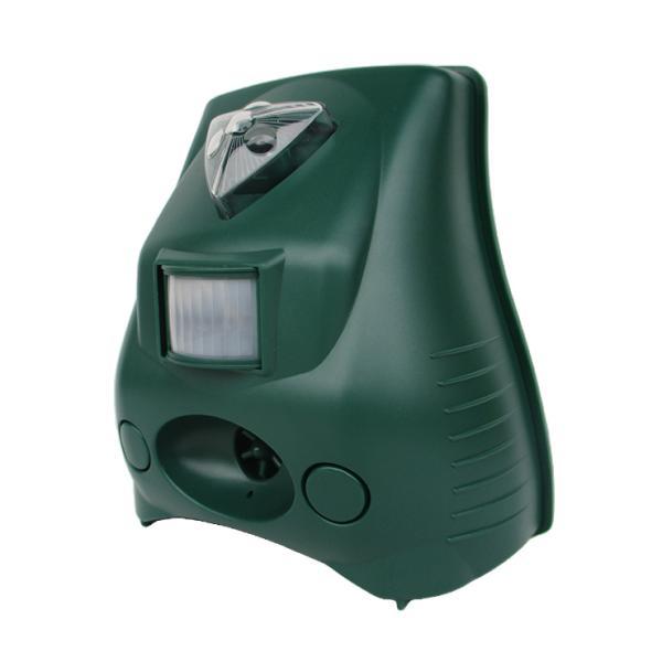 犬よけ ネコよけ 鳥よけ 防除器 赤外線センサー 乾電池式 単一 4本 超音波 フラッシュ 光 アラーム 音 住宅 家庭菜園 害鳥 対策 代引不可