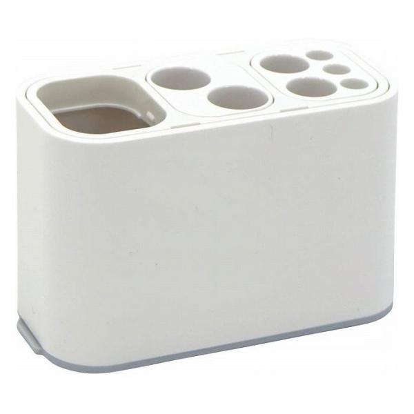 歯ブラシスタンド オ-ラルケアスタンド 組み替え 収納パーツ 洗面所 収納 歯ブラシ ぬめり防止