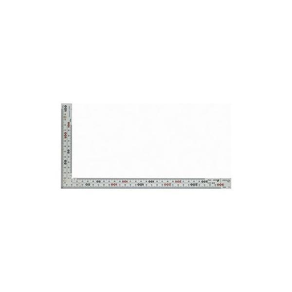シンワ測定 曲尺厚手広巾 シルバー 30cm 表裏同目 8段目盛 マグネット付 JIS 10425