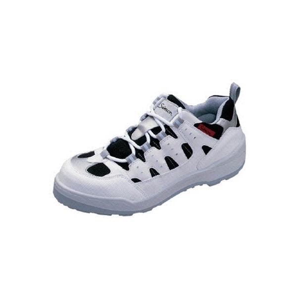 シモン プロスニーカー 短靴 8800白/黒 25.0cm 8800W-25.0 安全靴・作業靴・プロテクティブスニーカー