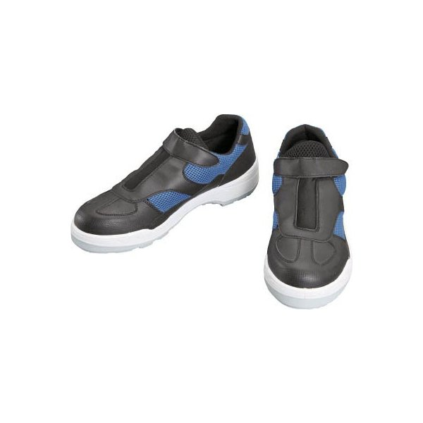 シモン プロスニーカー 短靴 8818黒/ブルー 23.5cm 8818B/BK-23.5 安全靴・作業靴・プロテクティブスニーカー