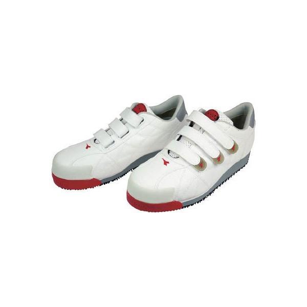 ディアドラ DIADORA 安全作業靴 アイビス 白 26.0cm IB11-260 安全靴・作業靴・プロテクティブスニーカー