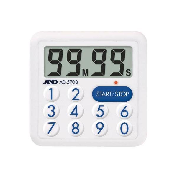 A&D 防滴100分間タイマー<LEDランプ付> AD5708 計測機器・ストップウォッチ・タイマー