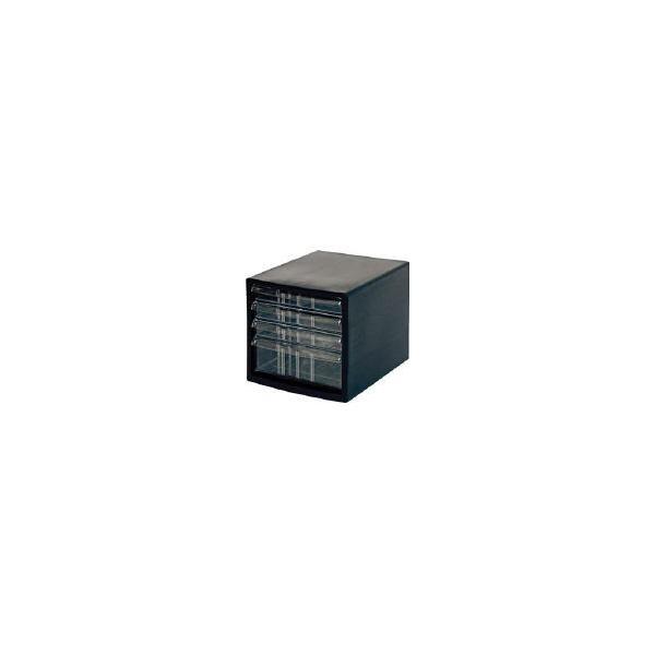 ナカバヤシ A4レターケース4段 A4E-S4B オフィス家具・レターケース